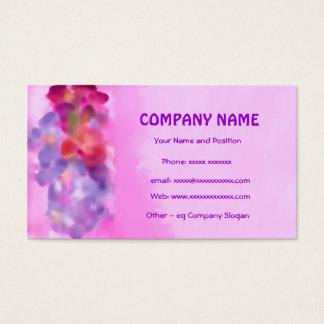 Pink, Mauve, Crimson Floral Business Card