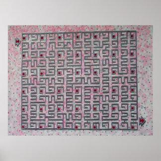 Pink Maze Poster