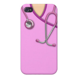 Pink Medical Scrubs iPhone 4 Cover