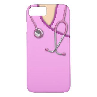 Pink Medical Scrubs iPhone 7 Case