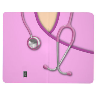 Pink Medical Scrubs Journal
