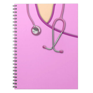 Pink Medical Scrubs Spiral Notebook