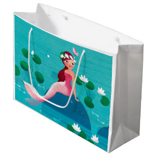Pink Mermaid Gift Bag