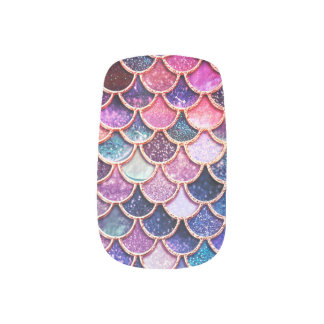 Pink Mermaid Glitter Scales- Mermaid Scales Minx Nail Art