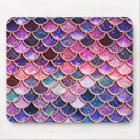 Pink Mermaid Glitter Scales- Mermaid Scales Mouse Mat