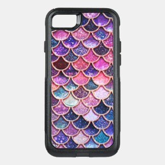 Pink Mermaid Glitter Scales- Mermaid Scales OtterBox Commuter iPhone 8/7 Case