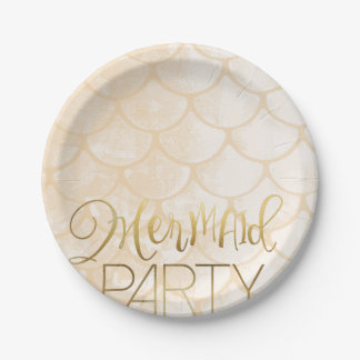 Pink Mermaid Party   Under The Sea Birthday 7 Inch Paper Plate