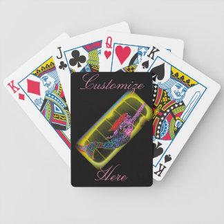 pink mermaid rising poker deck