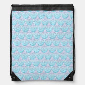 Pink Mermaid scales ,boho,hippie,bohemian Drawstring Bag