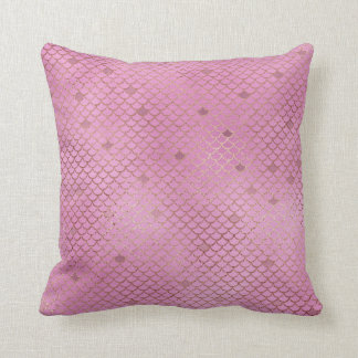 Pink Mermaid Scales Cushion