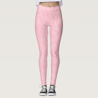 Pink Mermaid Scales Leggings
