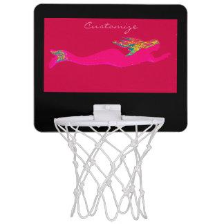 pink mermaid swimming mini basketball hoop