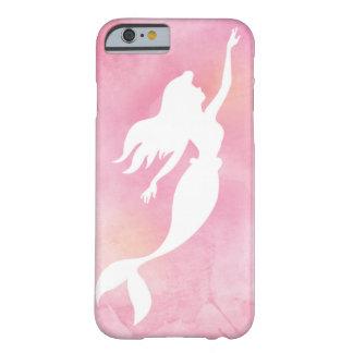 Pink Mermaid Watercolor Silhouette Phone Case