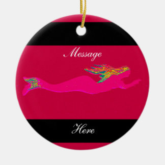 pink mermaids customized christmas ornament