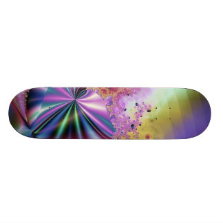 Pink Metallic Fractal Magic Skateboards