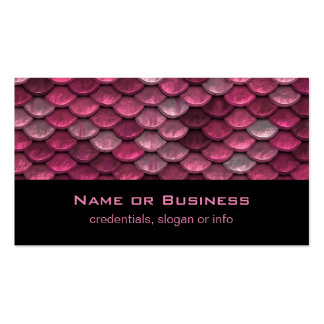 Pink Metallic Scales Texture Pack Of Standard Business Cards