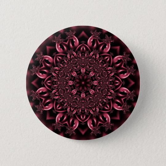 Pink metalwork 6 cm round badge