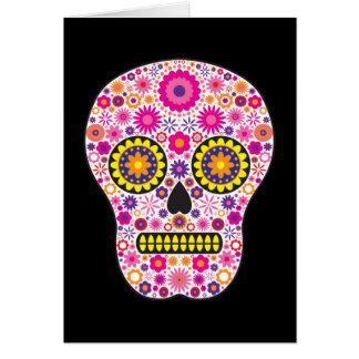 Pink Mexican Sugar Skull Greeting Cards