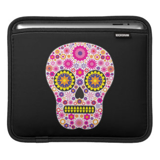 Pink Mexican Sugar Skull iPad Sleeve