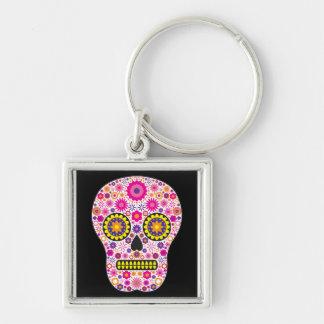 Pink Mexican Sugar Skull Key Ring