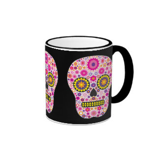 Pink Mexican Sugar Skull Coffee Mug