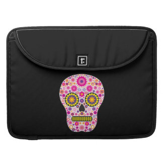 Pink Mexican Sugar Skull Sleeve For MacBook Pro