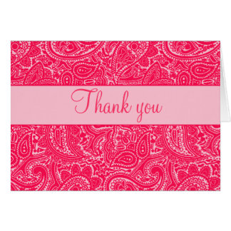 Pink Mini Paisley Note Cards