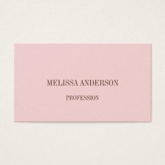 Pink minimalist professional business card