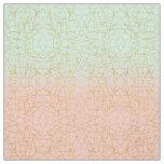 Pink Mint Green Ombre Gold Glitter Geometric Fabric