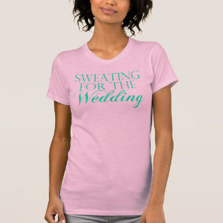 Pink & Mint Sweating For The Wedding. Singlet T-Shirt
