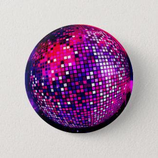 Pink Mirror Ball 6 Cm Round Badge