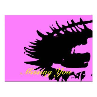 Pink Missing You Postcards