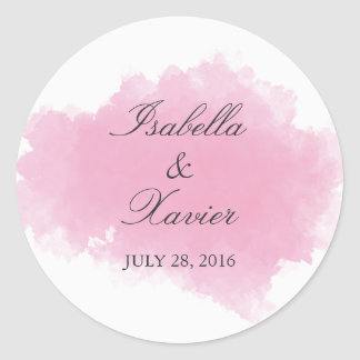 Pink Mist | Wedding Favor Sticker