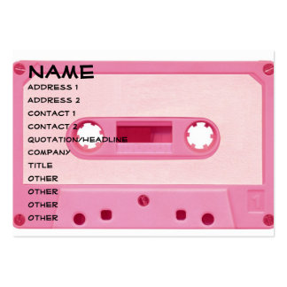 Pink Mix Tape Pack Of Chubby Business Cards