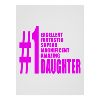 Pink Modern #1 Daughters : Number One Daughter Posters