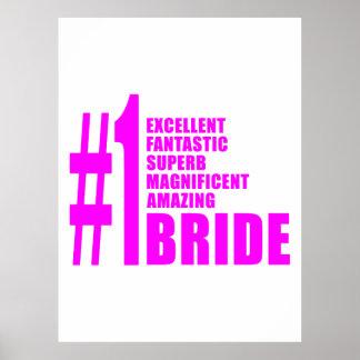 Pink Modern Brides : Number One Bride Posters