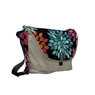 Pink Modern Chrysanthemum Commuter Bag
