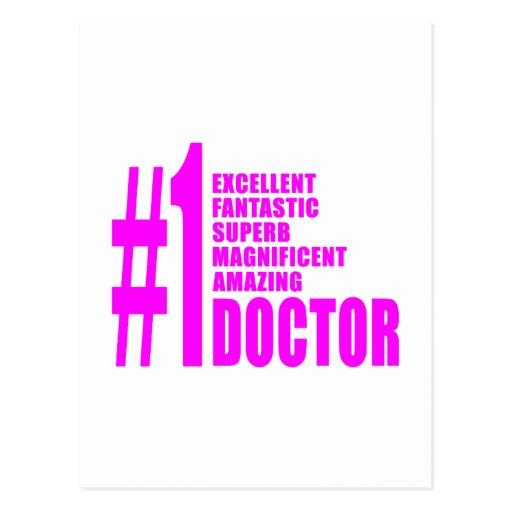 Pink Modern Doctors : Number One Doctor Postcards