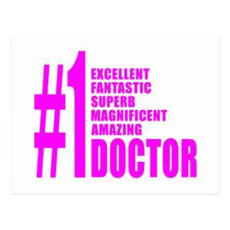 Pink Modern Doctors : Number One Doctor Postcard