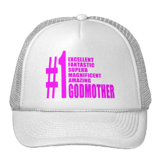 Pink Modern Godmothers : Number One Godmother Hats