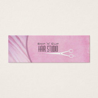 Pink Modern Stylist Salon Skinny Business Card