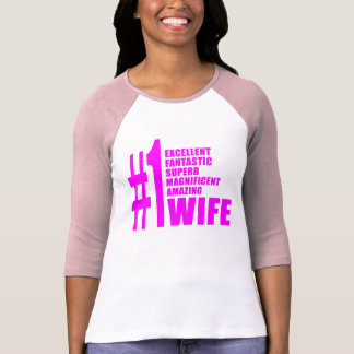 Pink Modern Wives : Number One Wife T-shirts