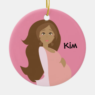 Pink Mom-to-Be Ornament - Personalized