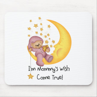 Pink Mommy's Wish Come True Mouse Mats