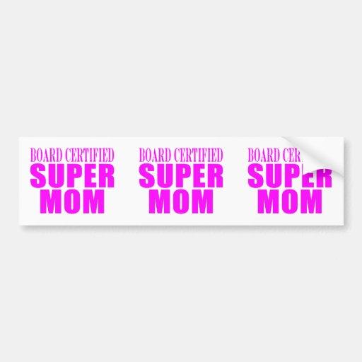 Pink Moms Birthdays & Christmas : Super Mom Bumper Sticker
