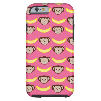Pink Monkey and Banana iPhone 6 case /  Tough iPhone 6 Case