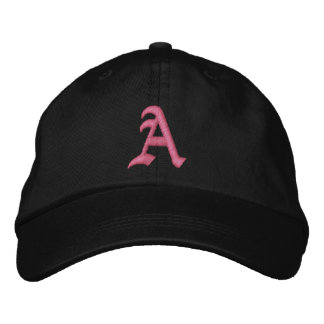 Pink Monogram A Embroidered Hat