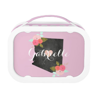 Pink Monogram Arizona State Moveable Heart City Lunch Box