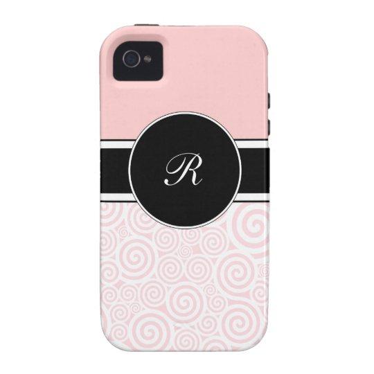 Pink Monogram iPhone 4 Cases
