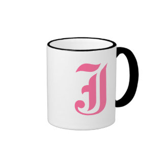 Pink Monogram J Mug